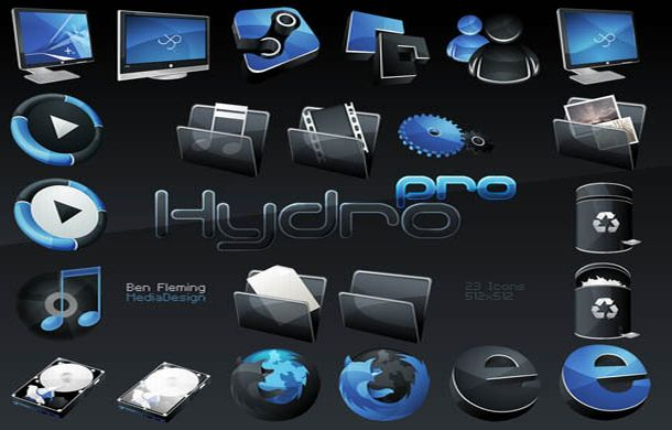 HydroPRO -HP- Dock Icon Set28