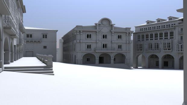 3D Medival Plaza