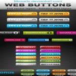 50 Free Web Buttons Set Packs