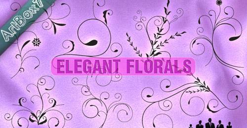 elegant vector florals
