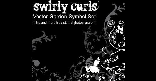 symbols curls vector