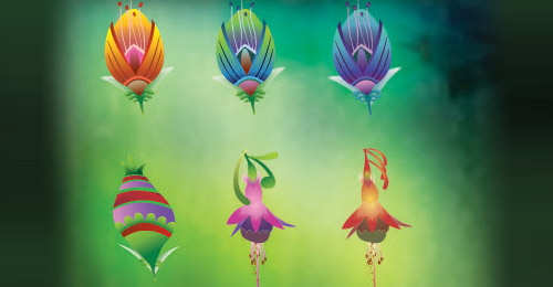 Illustrated Vector Flowers