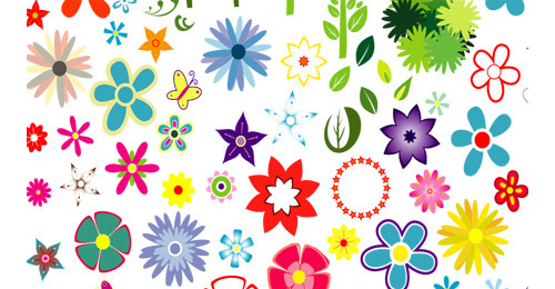 Flowers Floral Silhouette Vector Free