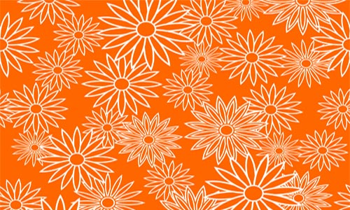 Simply Fantastic Orange Pattern