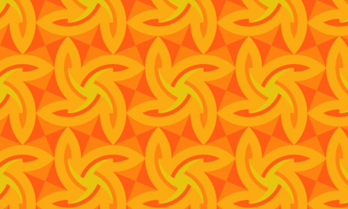 So Nice So Great Orange Pattern