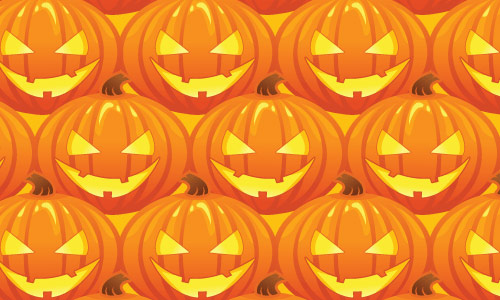 Go Halloween Orange Pattern