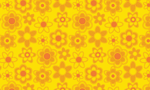 Free Abstract Orange Floral Photoshop Patterns
