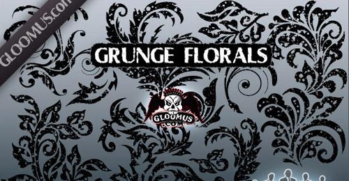 vector grunge florals