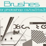200+ Photoshop Circles Tech Abstract Vector Brushes