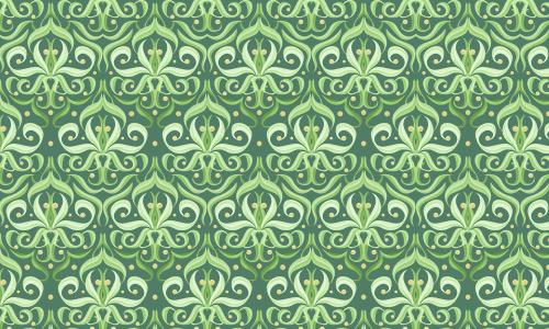 Fancy green pattern