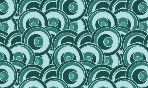 Funky circles green pattern