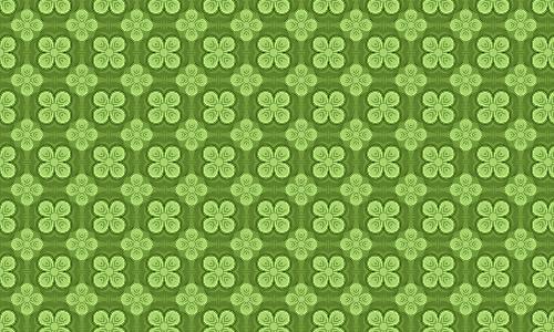 Neat clover green pattern