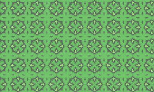 Nice shape green pattern