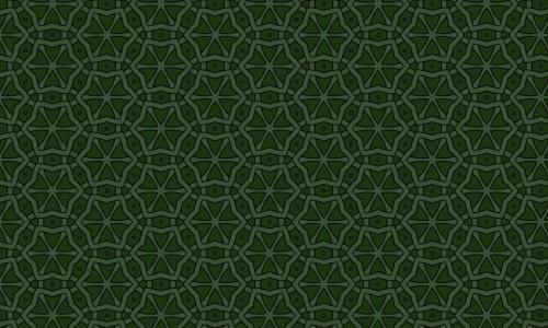 Green star patterns