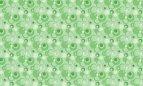 Bubbles green pattern