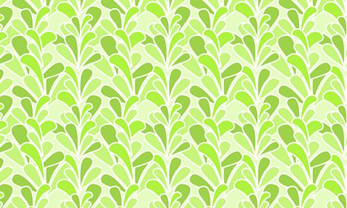 Retro leaves green pattern