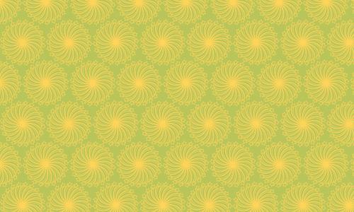 Yellow flower green patterns