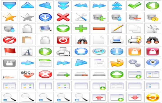 Clear PNG Icons Set