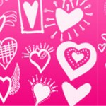 120+ Free Photoshop Vector Heart Brushes Set