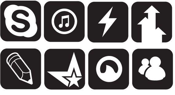 50 black social media web 20 icons download social media web 20 icons sciox Choice Image