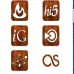 151 Free Glossy Wooden Social Icons Set Download
