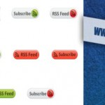 Glossy RSS Feed Subscribe Buttons Icons Download