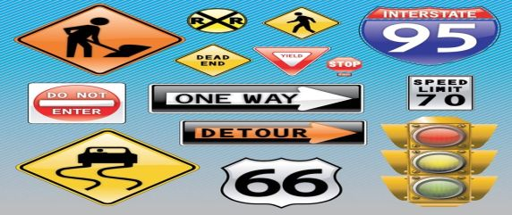 Traffic Signs Vector Icons