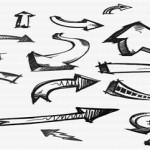80+ Hand Drawn Arrow Doodles Photoshop Brushes