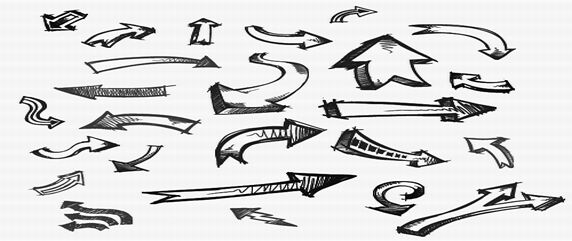 80+ Hand Drawn Arrow Doodles Photoshop Brushes