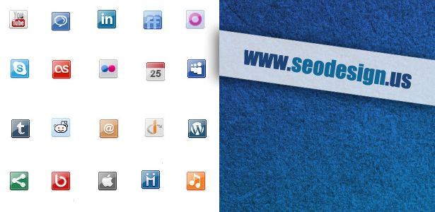 free-small-social-media-web-icons-set