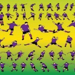 120 Soccer Players Silhouette Vector Icons Download