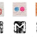 120+ Vintage Social Media Icons