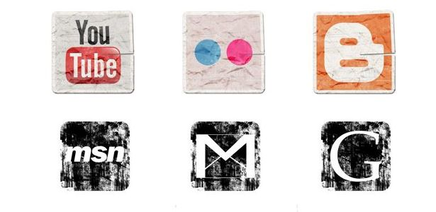 free-grunge-vintage-social-media-icons