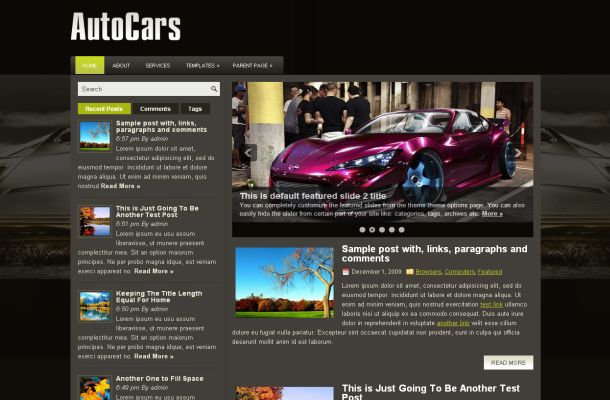 Sport Cars Wordpress Themes