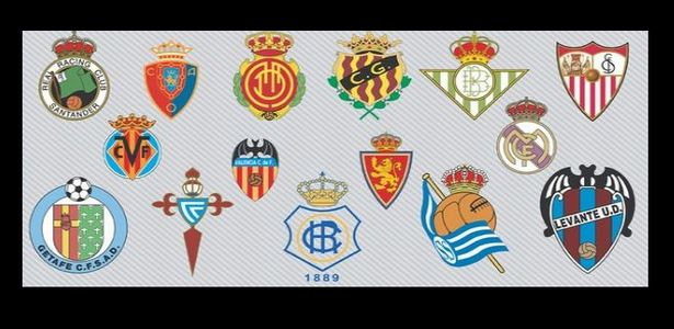 Spanish Football Teams Logos Vector Icons