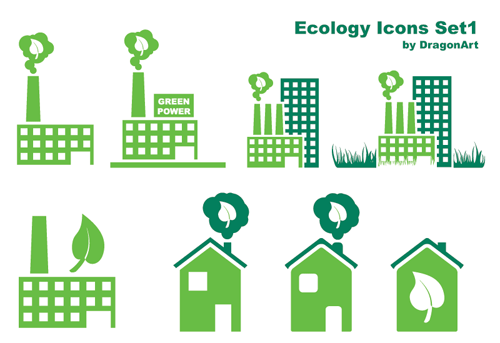 25 free ecology green icons set pack download