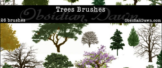 26 free photoshop trees brushes download