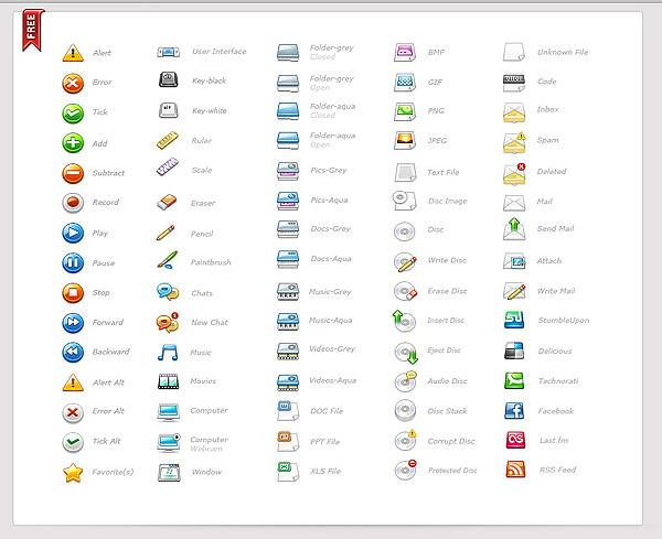free web development icons set pack download