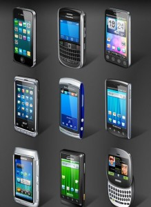 free mobile phone icons set pack download