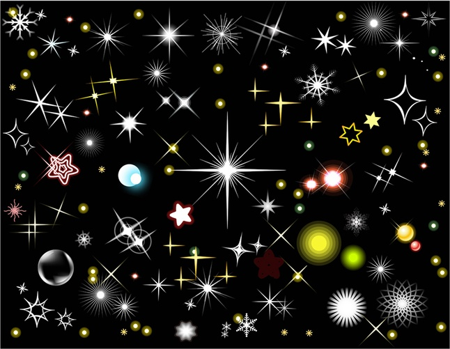 free stars and light effects vector graphics