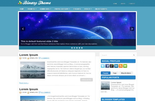best business blogger themes templates 2012