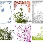 28 Vector Art Floral Borders Corners Set