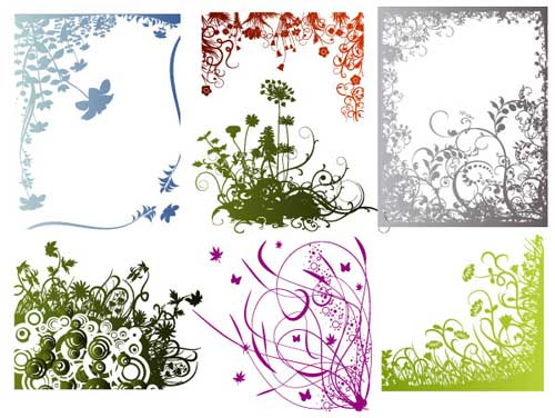 free vector art flowers floral borders frames corners