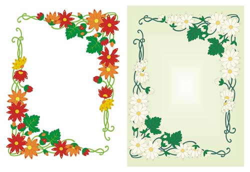 vector floral frames and borders