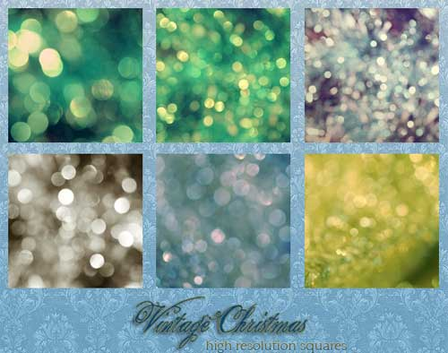 vintage bokeh christmas lights