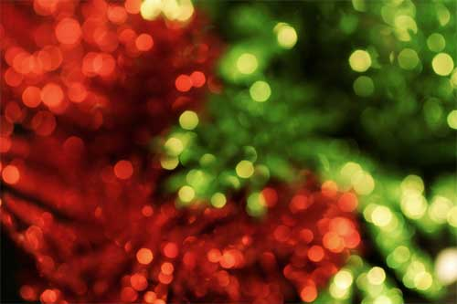 bokeh red and green christmas light textures