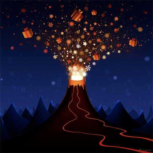 ipad 3 Christmas Volcano Wallaper