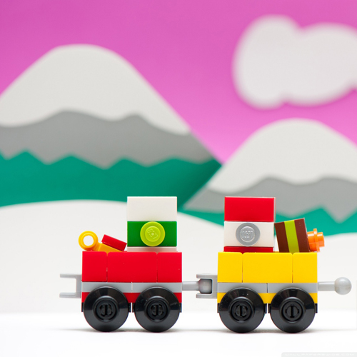 ipad 3 Lego Train Christmas Wallpaper