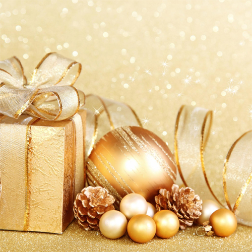 ipad 3 Gold Christmas Wallpaper