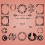 50+ European Vintage Vector Frames